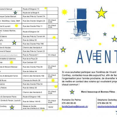 Programme Avent Plan-Conthey 2018